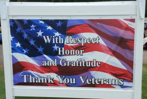 2015 Added new Thank You Veterans sign