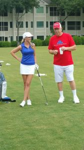 2015-Introducing Meredith Kirk at her tournament  golf clinic