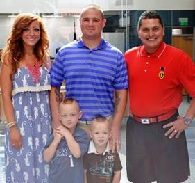 Montgomery Family And Major Ed Pulido