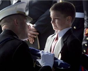 Son At Dad's Funeral